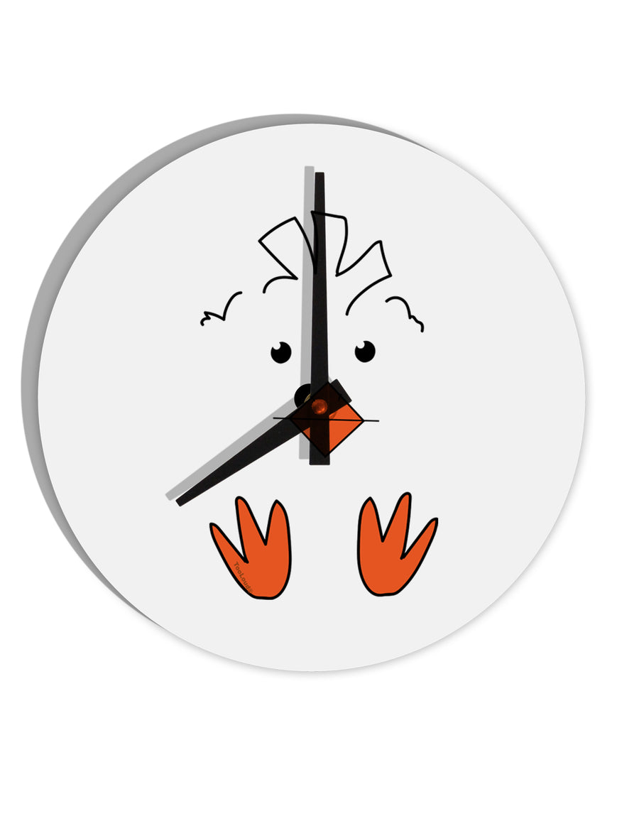 TooLoud Cute Easter Chick Face 8 Inch Round Wall Clock