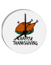 TooLoud Happy Thanksgiving 8 Inch Round Wall Clock
