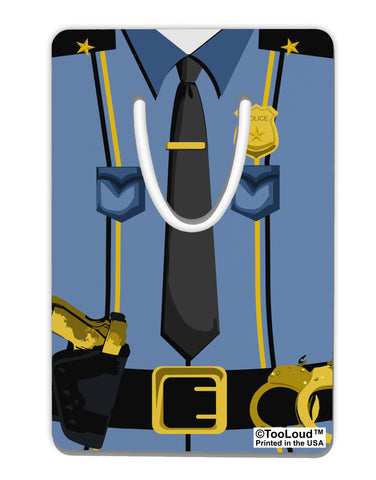 Police Blue-Gold AOP Aluminum Paper Clip Bookmark All Over Print