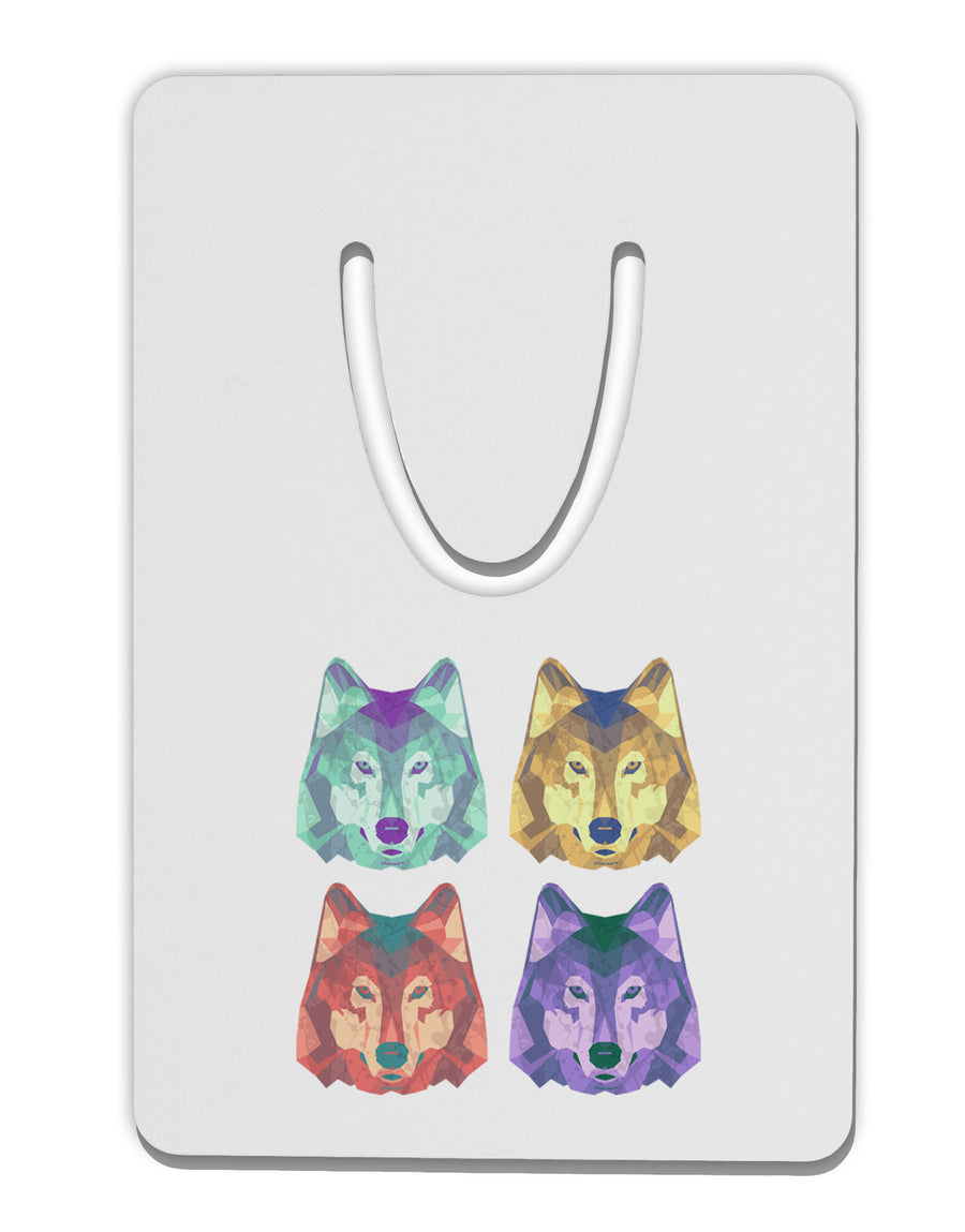 Geometric Wolf Head Pop Art Aluminum Paper Clip Bookmark by TooLoud