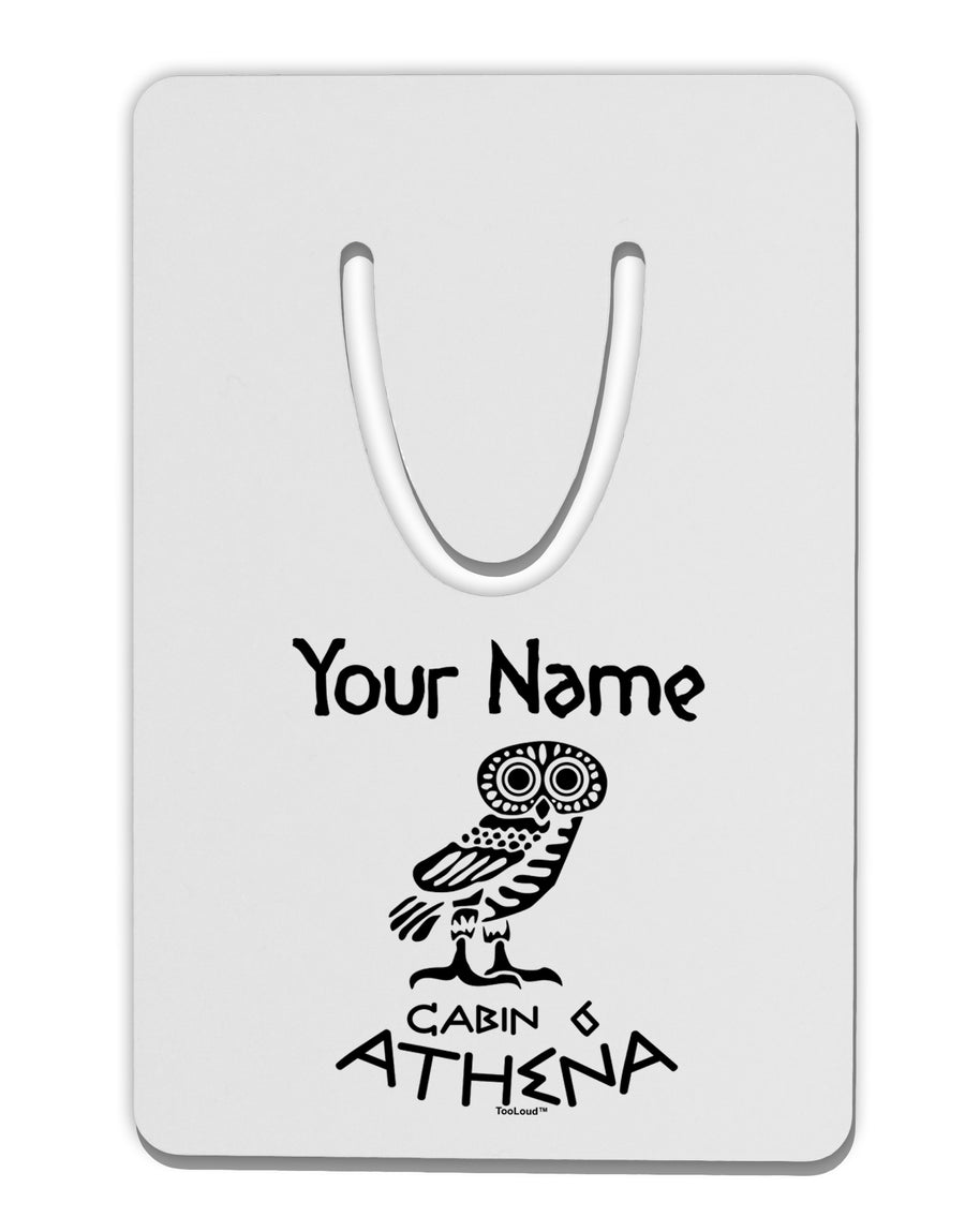 Personalized Cabin 6 Athena Aluminum Paper Clip Bookmark by TooLoud