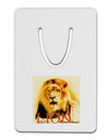 Lion Watercolor 4 Text Aluminum Paper Clip Bookmark