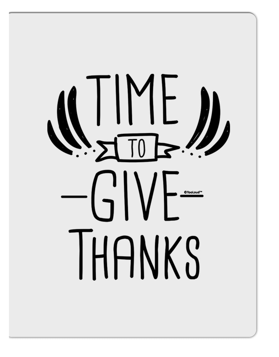 TooLoud Time to Give Thanks Aluminum Dry Erase Board