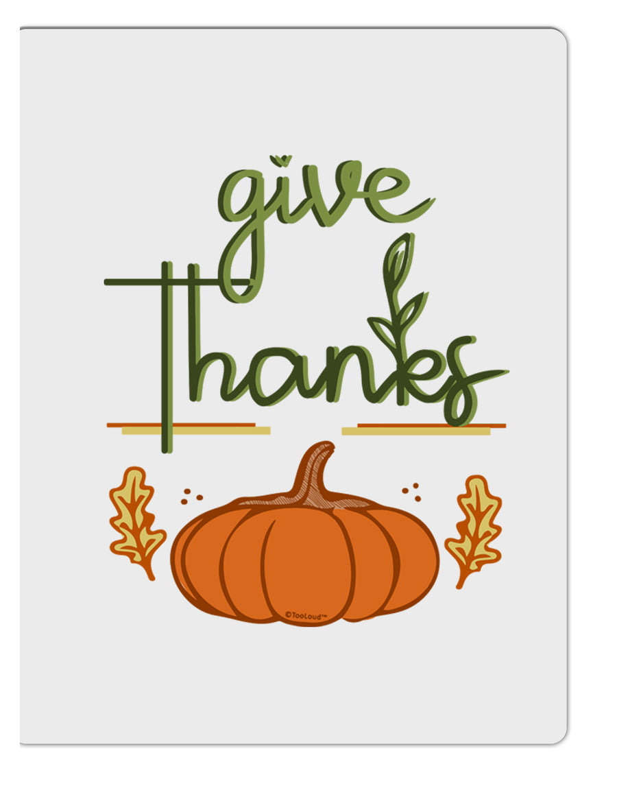 TooLoud Give Thanks Aluminum Dry Erase Board