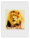 Lion Watercolor 4 Text Aluminum Dry Erase Board