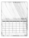 White Marble Pattern Blank Calendar Dry Erase Board All Over Print by TooLoud
