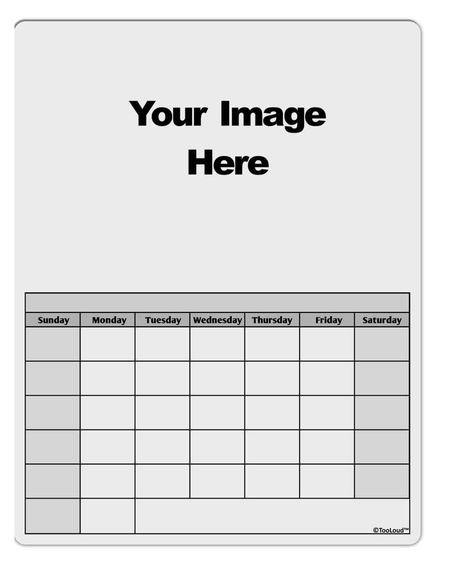 Your Own Image Customized Picture Blank Calendar Dry Erase Board