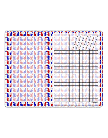 Patriotic Cat Pattern Chore List Grid Dry Erase Board All Over Print
