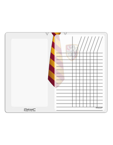 TooLoud Wizard Uniform Red and Yellow Chore List Grid Dry Erase Board All Over Print