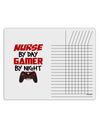 Nurse By Day Gamer By Night Chore List Grid Dry Erase Board