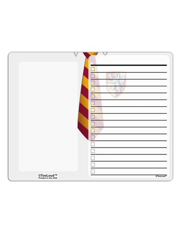 TooLoud Wizard Uniform Red and Yellow To Do Shopping List Dry Erase Board All Over Print