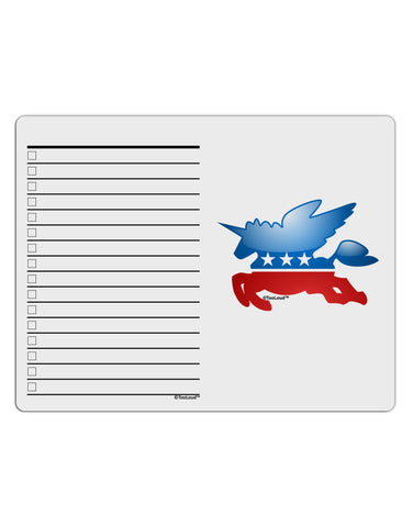 TooLoud Unicorn Political Symbol To Do Shopping List Dry Erase Board