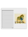 Lion Watercolor 1 Text To Do Shopping List Dry Erase Board