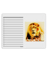 Lion Watercolor 4 Text To Do Shopping List Dry Erase Board