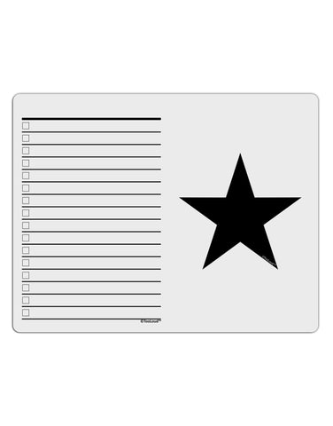 TooLoud Black Star To Do Shopping List Dry Erase Board