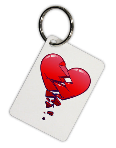 Crumbling Broken Heart Aluminum Keyring Tag by TooLoud