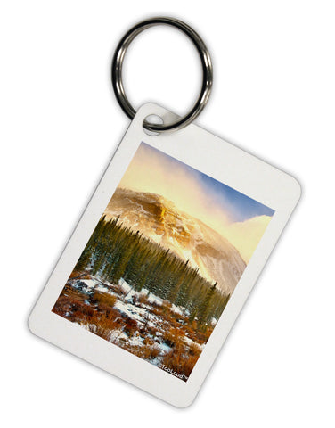 Nature Photography - Mountain Glow Aluminum Keyring Tag by TooLoud