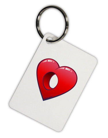 Hole Heartedly Broken Heart Aluminum Keyring Tag by TooLoud
