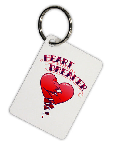 Heart Breaker Cute Aluminum Keyring Tag by TooLoud