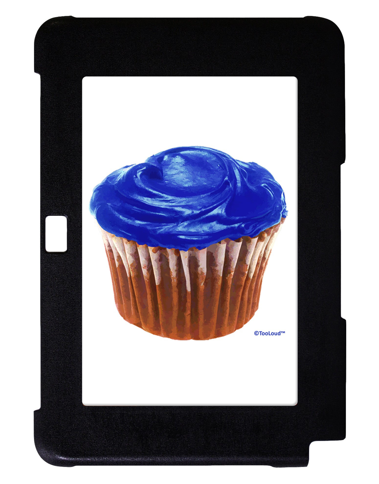 Giant Bright Blue Cupcake Galaxy Note 10.1 Case  by TooLoud