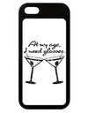 At My Age I Need Glasses - Martini Distressed iPhone 5 / 5S Grip Case  by TooLoud