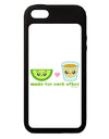 Cute Tequila Shot and Lime - Made For Each Other iPhone 5C Grip Case  by TooLoud