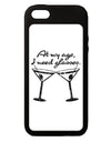 At My Age I Need Glasses - Martini Distressed iPhone 5C Grip Case  by TooLoud