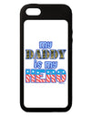 My Daddy is My Hero - Armed Forces - Blue iPhone 5C Grip Case  by TooLoud