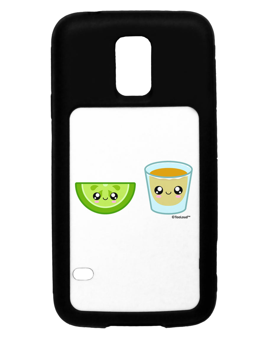 Cute Tequila Shot and Lime Wedge Black Dauphin iPhone 6 Plus Cover by TooLoud