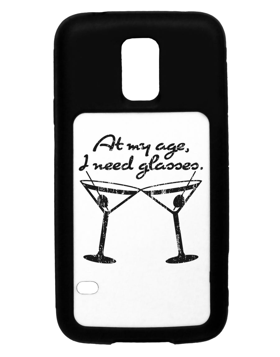 At My Age I Need Glasses - Martini Distressed White Dauphin iPhone 6 Cover by TooLoud