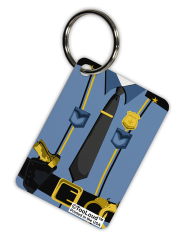 Police Blue-Gold AOP Aluminum Keyring Tag All Over Print