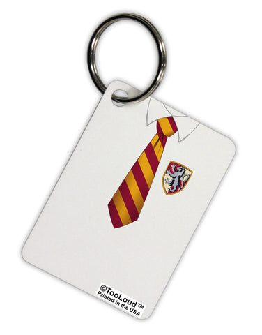 TooLoud Wizard Uniform Red and Yellow Aluminum Keyring Tag All Over Print