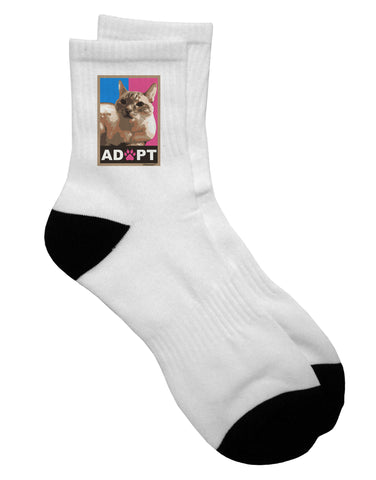 Adopt Cute Kitty Poster Adult Short Socks