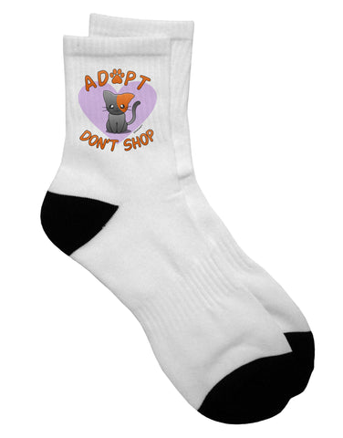 Adopt Don't Shop Cute Kitty Adult Short Socks