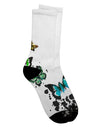Splatter Butterflies AOP Adult Crew Socks All Over Print