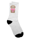 Cute Valentine Sloth Holding Heart Adult Crew Socks - by TooLoud