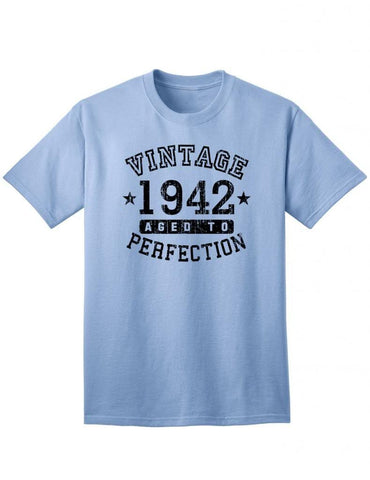 1942 - Adult Unisex Vintage Birth Year Aged To Perfection Birthday T-Shirt
