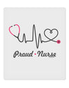 "Stethoscope Heartbeat Text 9 x 10.5"" Rectangular Static Wall Cling"