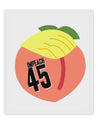"Impeach Peach Trump 9 x 10.5"" Rectangular Static Wall Cling by TooLoud"