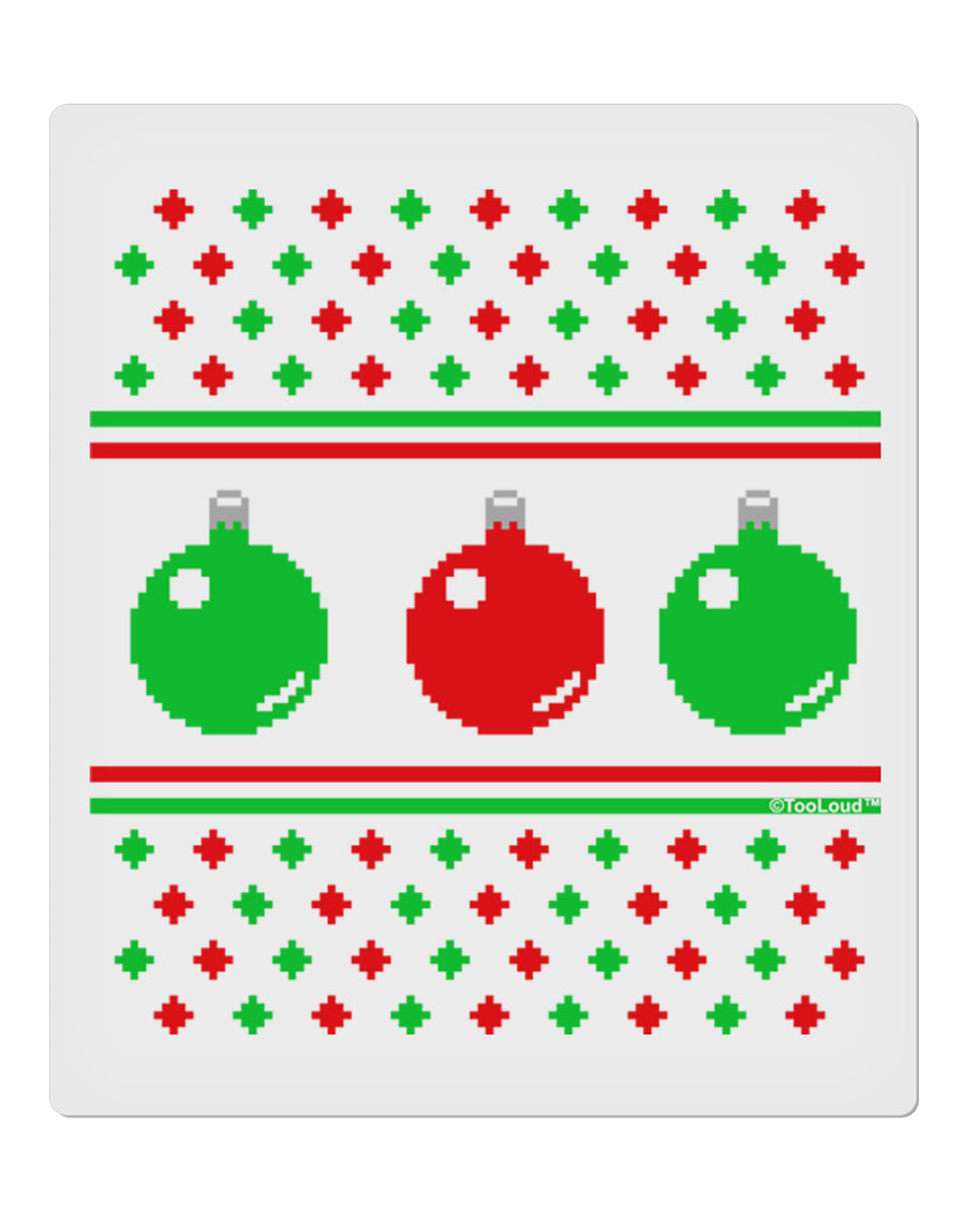 "TooLoud Ugly Christmas Sweater Ornaments 9 x 10.5"" Rectangular Static Wall Cling"
