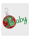 "Matching Family Ornament Baby 9 x 10.5"" Rectangular Static Wall Cling"