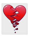 "Crumbling Broken Heart 9 x 10.5"" Rectangular Static Wall Cling by TooLoud"