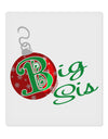 "Matching Family Ornament Big Sis 9 x 10.5"" Rectangular Static Wall Cling"
