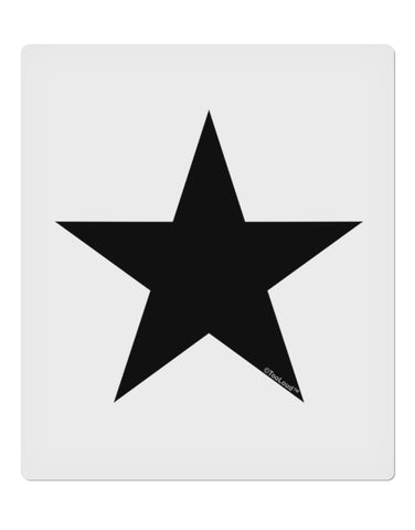 "TooLoud Black Star 9 x 10.5"" Rectangular Static Wall Cling"