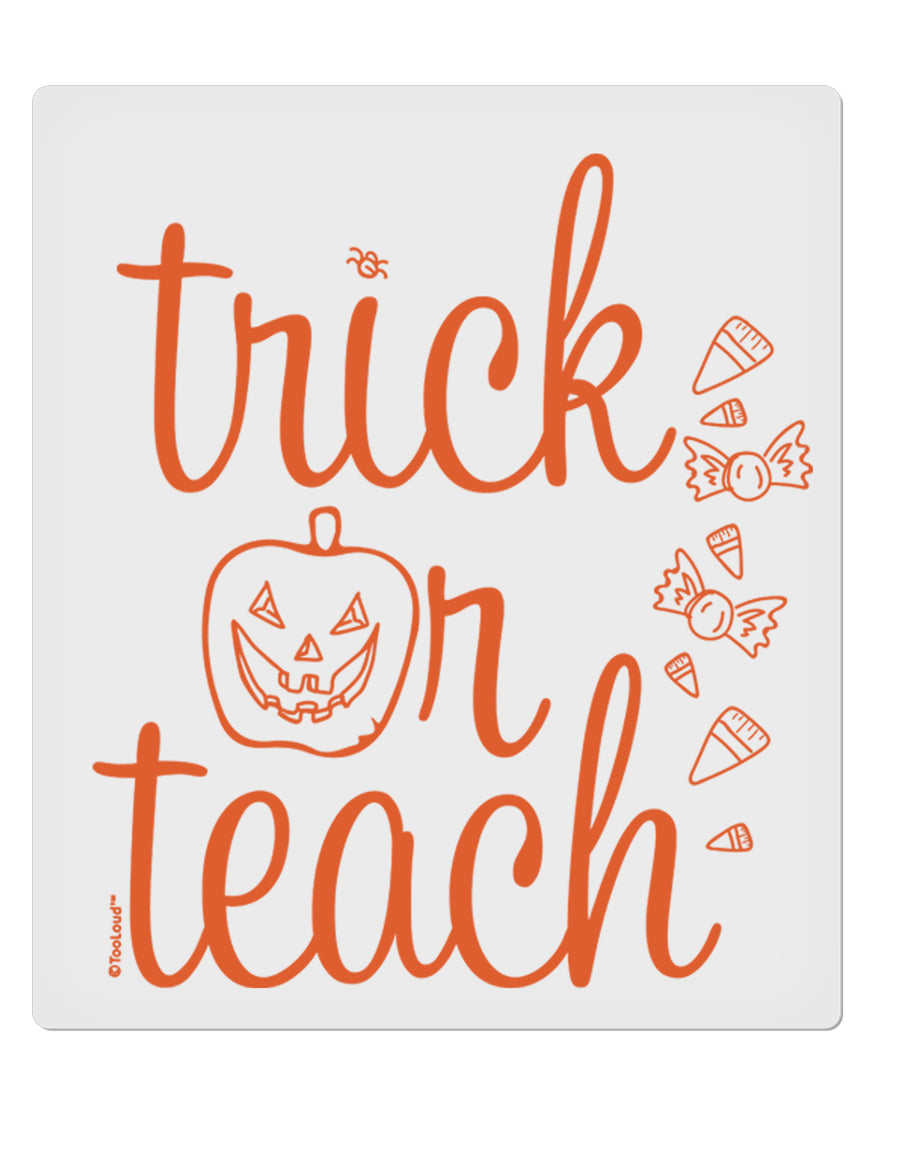 TooLoud Trick or Teach 9 x 10.5 Inch Rectangular Static Wall Cling