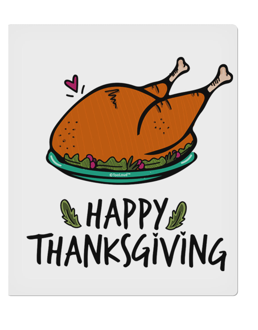 TooLoud Happy Thanksgiving 9 x 10.5 Inch Rectangular Static Wall Cling