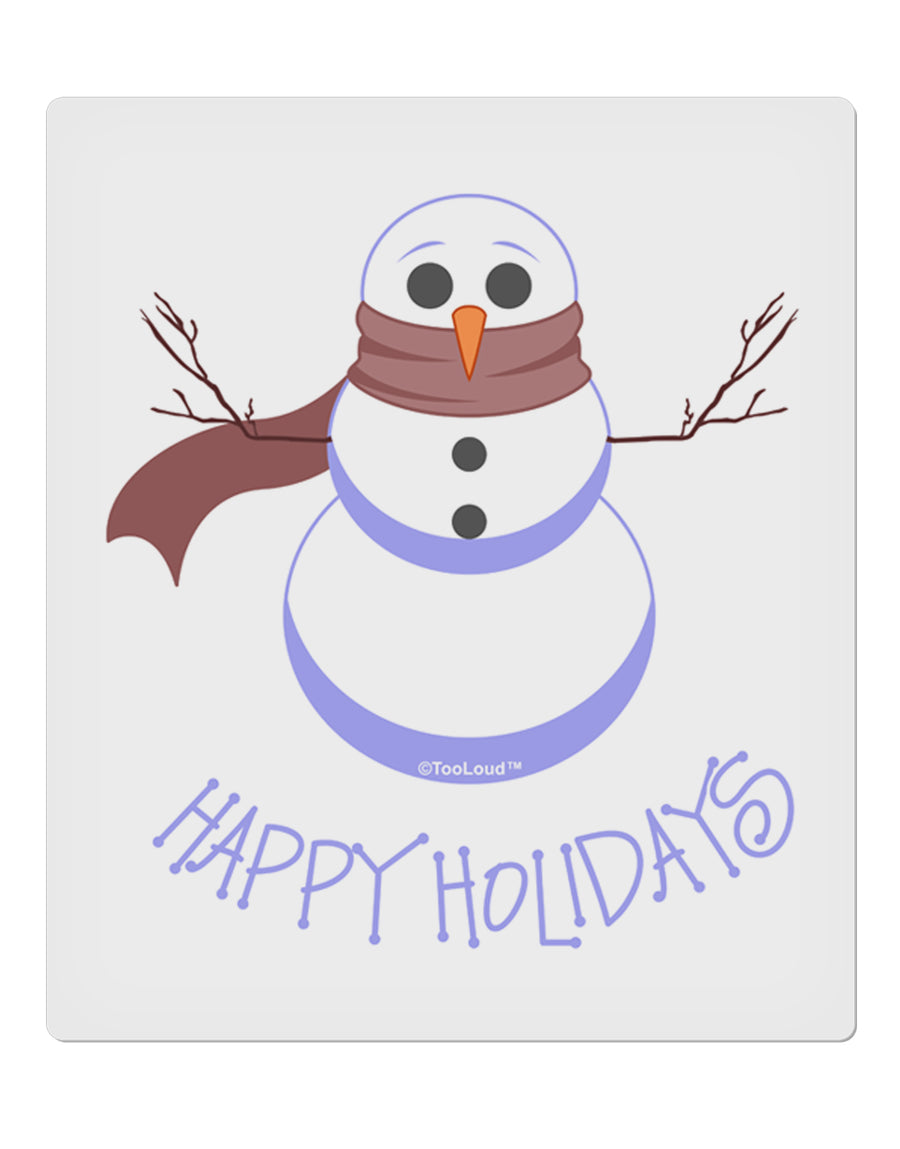 "Snowman - Happy Holidays 9 x 10.5"" Rectangular Static Wall Cling"