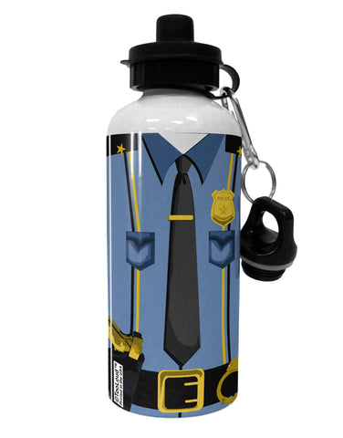 Police Blue-Gold AOP Aluminum 600ml Water Bottle All Over Print