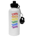 TooLoud Pride Flag Hex Code Aluminum 600ml Water Bottle