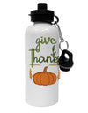 TooLoud Give Thanks Aluminum 600ml Water Bottle